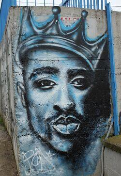 Tupac graffiti, Vlasotince, Serbia