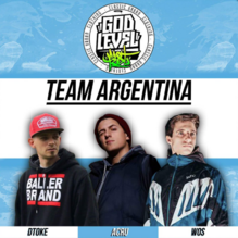 FLYER - TEAM ARGENTINA - GOD LEVEL 2018