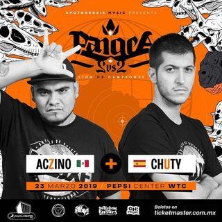Chuty junto a Aczino por Pangea 2019