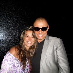 Claudio Yarto con su esposa