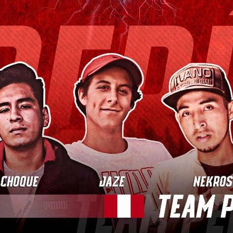 El Team Perú conformado por Nekroos, <a href=