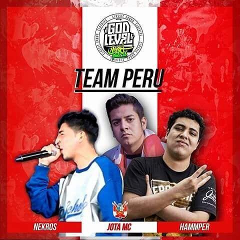 Team Perú, equipo creado con los mayores exponentes internacionales del rap peruano para la God Level Fest 2018, <a href=
