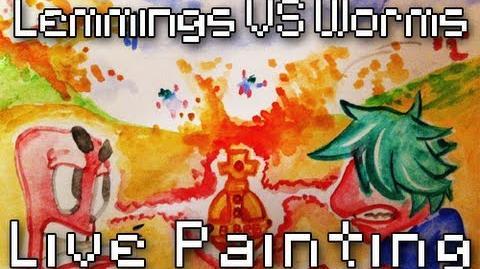 8Bit Drawing - Lemmings VS Worms & Teaser Battle 6
