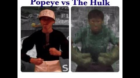 The Hulk vs Popeye