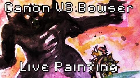 8Bit Drawing - Ganon VS Bowser & Teaser Battle 5