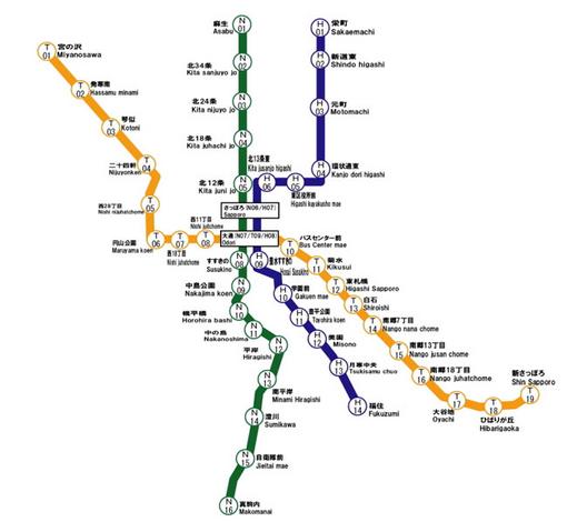 File:Sapporo Municipal Subway Map.png
