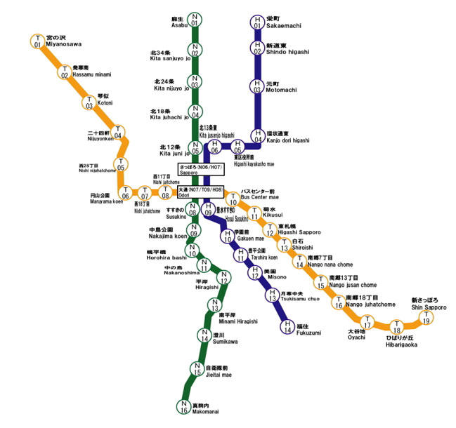Sapporo Subway Map.Sapporo Municipal Subway Rapid Transit Wiki Fandom Powered By Wikia