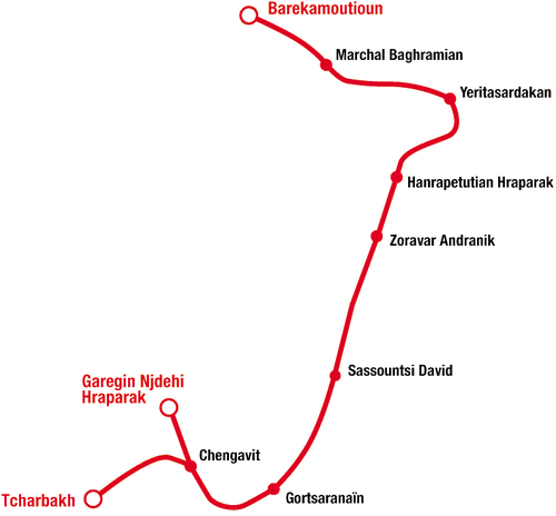 Yerevan Metro Map