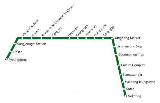 Gwangju Metropolitan Transit Map