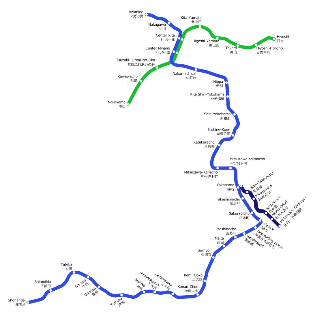 Sapporo Municipal Subway Map.Yokohama Municipal Subway Rapid Transit Wiki Fandom Powered By Wikia