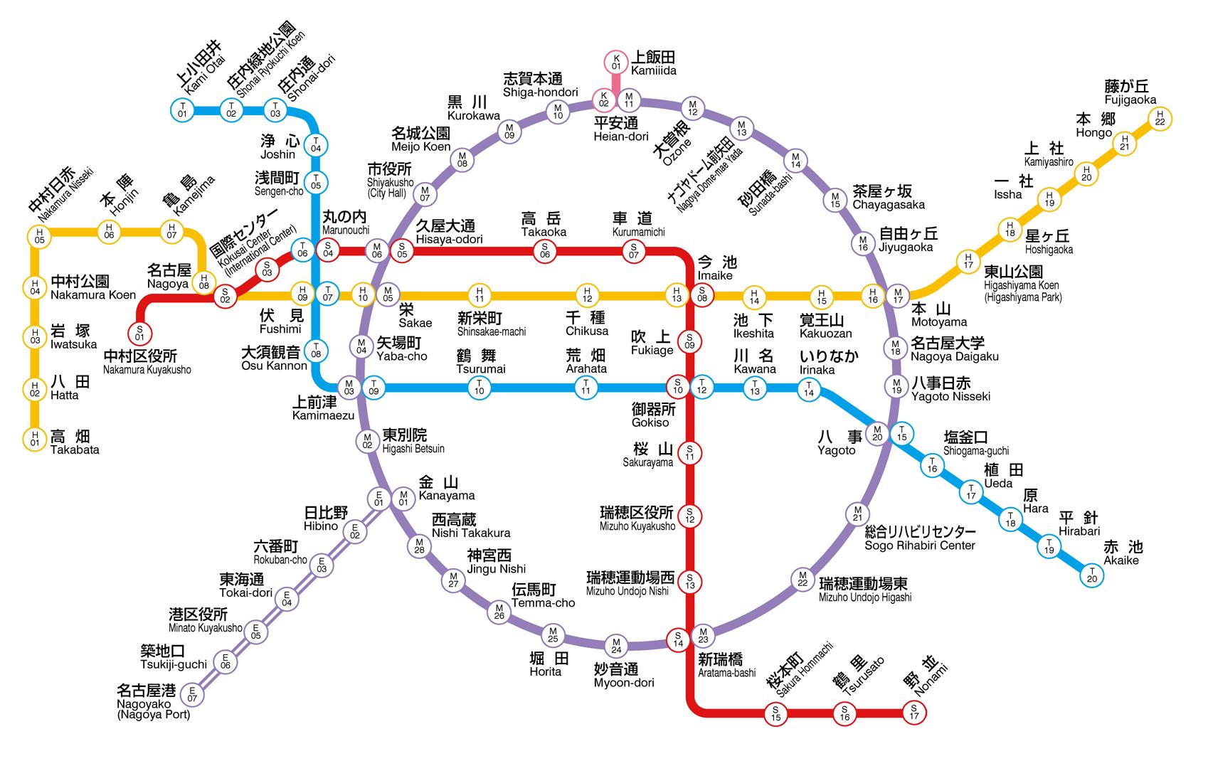 Seoul Subway Map 1989.Nagoya Municipal Subway Rapid Transit Wiki Fandom Powered By Wikia