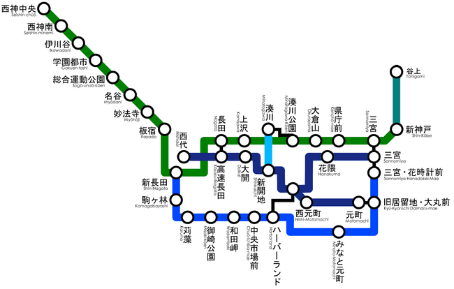 Kobe Subway Map