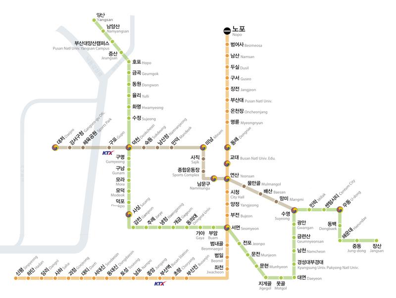 Busan Subway Map