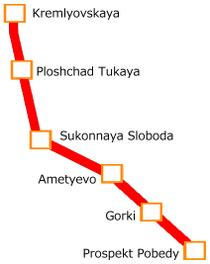 Kazan Metro Map