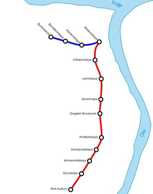 Nizhny Novgorod Metro Map