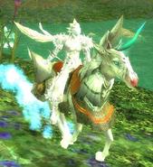 Unicorn mounted