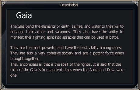 Race Info - Gaia