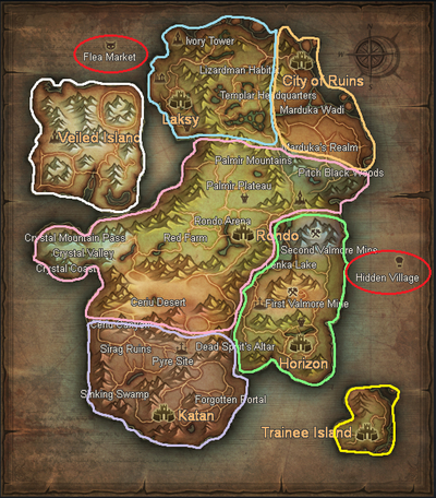 Rappelz Epic 7 - Sepia - Areas