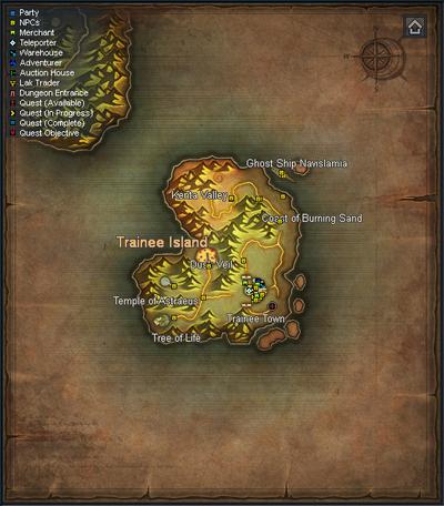 Sepia Map - Trainee Island