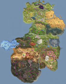 Mana stones map routes