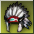 Icon helmet deco indian rare
