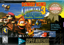 Donkey Kong Country 3 - North American Boxart