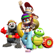 Diddy Kong Racing DS - Group Artwork