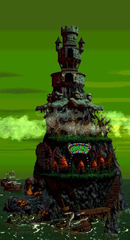 Crocodile Isle - Overworld - Donkey Kong Country 2