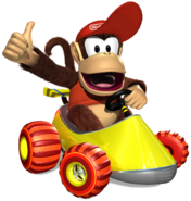 Diddy Kong Artwork - Diddy Kong Racing DS