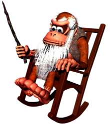 Cranky Kong Artwork - Donkey Kong Country