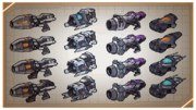 Weapons from UYA concept art