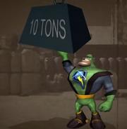 Qwark lifts ten tons