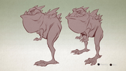 Horny toad from R&C (2016) concept art