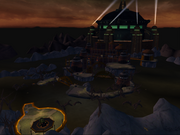 Qwark's headquarters from R&C (2002) screen 1