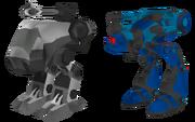 Multiplayer mini-mechs render
