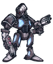 Megacorp Trooper concept art