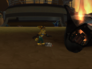 Ratchet finds Clank screen