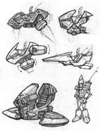 Blarg helicopter from R&C (2002) concept art