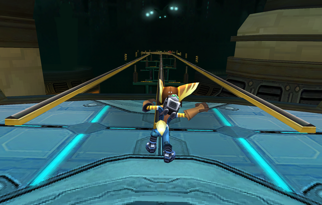 File:Ratchet about to grindrail in Before the Nexus.PNG