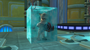 Inventor frozen in ice