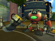 Big axebot from R&C (2002) screen