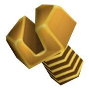 Gold bolt render