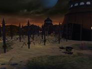 Qwark's headquarters from R&C (2002) screen 2