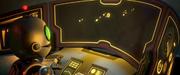 Clank in an escape shuttle