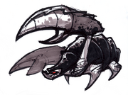 Toxic crab from R&C (2002) concept art