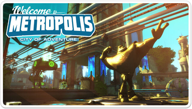 File:Ratchet & Clank Full Frontal Assault Metropolis Postcard.jpg