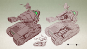 Cannonball tank from R&C (2016) concept art