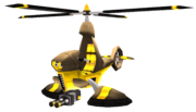 Blarg heli-commander helicopter from R&C (2002) render