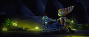 Ratchet shaking Clank's hand from R&C (2016)