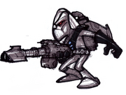 Blarg space commando concept art